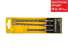 STAYER Набор буров SDS-plus 3 шт: 5 x 110, 6 x 160, 8 x 160 мм, Professional (2930-H3)