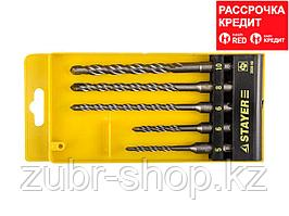 STAYER Набор буров SDS-plus 5 шт: 5 x 110, 6 x 110, 6 x 160, 8 x 160, 10 x 160 мм, Professional (2930-H5)