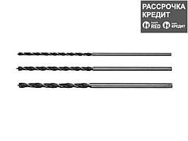 """STAYER """"Maxdrill"""" 3 шт., 6-8-10 х 300 мм, набор сверл спиральных по дереву (2943-300-H3)"""