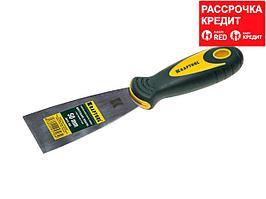 Шпательная лопатка KRAFTOOL с 2-компонент ручк, профилиров нержав полотно, 50мм (10035-050)
