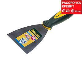 Шпательная лопатка KRAFTOOL с 2-компонент ручк, профилиров нержав полотно, 100мм (10035-100)