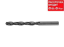 Сверло по металлу ЗУБР 4-29605-109-7, парооксидированное, быстрорежущая сталь, 7х109мм