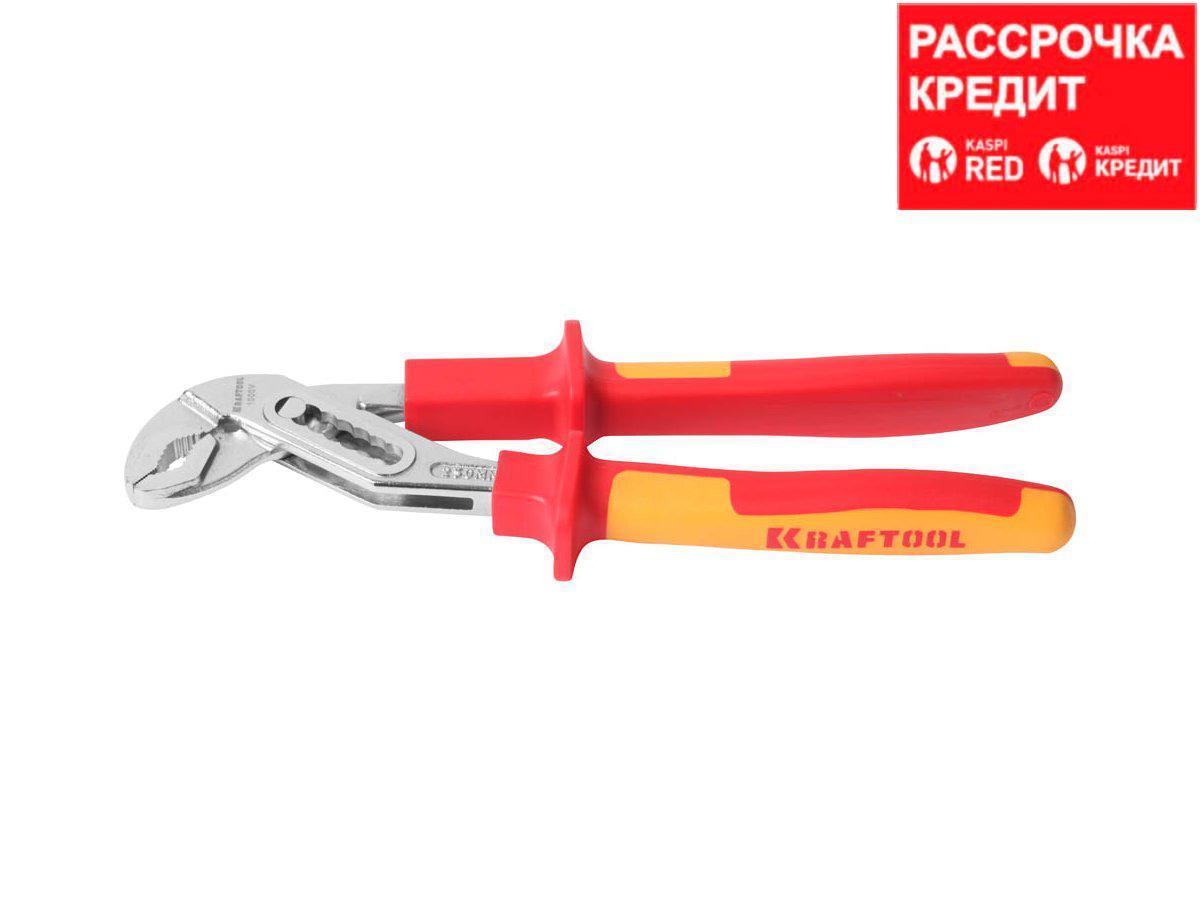 """Клещи """"ELECTRO-KRAFT"""", Cr-Mo сталь, двухкомпонентная маслобензостойкая рукоятка, хромированное покрытие, 250мм, KRAFTOOL (2202-10-25_z01)"""