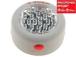 Фонарь светодиодный ЗУБР, 24 LED, магнит, крючок для подвеса, 3ААА (61812)
