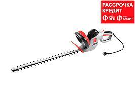 Кусторез электрический ЗУБР ЗКЭ-60-24, длина шины 600 мм, поворотная рукоятка, электронный тормоз, 710 Вт