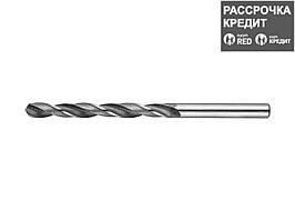 Сверло по металлу ЗУБР 4-29621-101-6.5, цилиндрический хвостовик, быстрорежущая сталь Р6М5, 6,5х101мм, 1шт