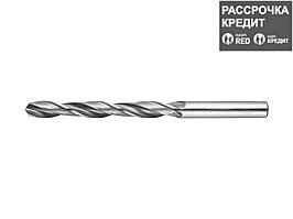Сверло по металлу ЗУБР 4-29621-109-7, цилиндрический хвостовик, быстрорежущая сталь Р6М5, 7х109мм, 1шт