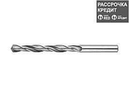Сверло по металлу ЗУБР 4-29621-109-7.5, цилиндрический хвостовик, быстрорежущая сталь Р6М5, 7,5х109мм, 1шт