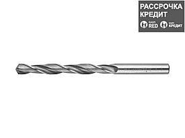 Сверло по металлу ЗУБР 4-29621-117-8.5, цилиндрический хвостовик, быстрорежущая сталь Р6М5, 8,5х117мм, 1шт