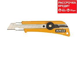 Нож OLFA с выдвижным лезвием эргономичный с резиновыми накладками, 18мм (OL-L-2)