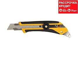 Нож OLFA, двухкомпонентный корпус, трещоточный фиксатор, 18мм (OL-L-5)