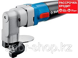 Ножницы по металлу электрические, ЗУБР Профессионал ЗНЛ-500, радиус поворота 40 мм, толщина листа до 2.5 мм,