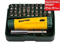 KRAFTOOL Mini-Box-32 набор: реверсивная отвертка с насадками 32 шт (26142-H32)