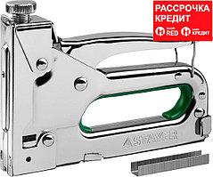 "Степлер ""Max 140"" с регулировкой силы удара, металл корпус 4-в-1: тип 140 (6-14 мм) / 28 (10-12 мм) / 300 (10-14 мм) / 500 (14 мм), STAYER (31508_z02)"