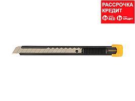 Нож OLFA с выдвижным лезвием, металлический корпус, 9мм (OL-S)