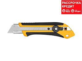 Нож OLFA с выдвижным лезвием, двухкомпонентный корпус, трещоточный фиксатор, 25мм (OL-XH-1)
