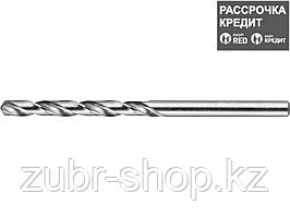 ЗУБР 4.4х80мм, Сверло по металлу, сталь Р6М5, класс А (4-29625-080-4.4)