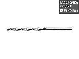 ЗУБР 5.3х86мм, Сверло по металлу, сталь Р6М5, класс А (4-29625-086-5.3)