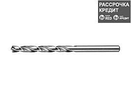 ЗУБР 5.4х93мм, Сверло по металлу, сталь Р6М5, класс А (4-29625-093-5.4)