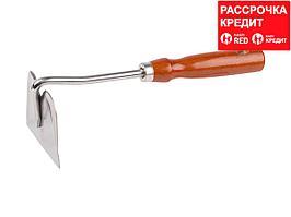 Мотыжка GRINDA прямое лезвие из нержавеющей стали с деревянной ручкой, 250 мм (8-421131_z01)
