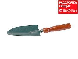 Совок GRINDA посадочный широкий, из углеродистой стали с деревянной ручкой, 290 мм (8-421211_z01)