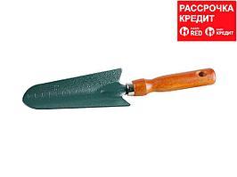 Совок GRINDA посадочный, из углеродистой стали с деревянной ручкой, 290 мм (8-421213_z01)