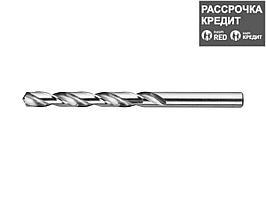 Сверло по металлу ЗУБР 4-29625-117-8, цилиндрический хвостовик, быстрорежущая сталь Р6М5, класс точности А1, 8х117мм, 1шт