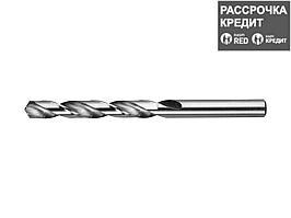 Сверло по металлу ЗУБР 4-29625-133-10, цилиндрический хвостовик, быстрорежущая сталь Р6М5, класс точности А1, 10х133мм, 1шт