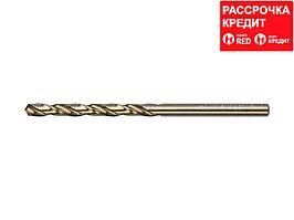 Сверло по металлу ЗУБР 4-29626-075-4.2, цилиндрический хвостовик, быстрорежущая сталь Р6М5К5, класс точн. А1, 4,2х75мм