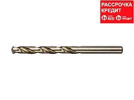 Сверло по металлу ЗУБР 4-29626-117-7.5, цилиндр. хвост., быстрореж. сталь Р6М5К5, класс точности А1,