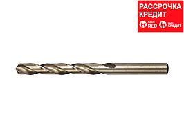 Сверло по металлу ЗУБР 4-29626-133-10.2, цилиндр. хвост., быстрореж. сталь Р6М5К5, класс точности А1,