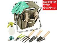 Скамейка GRINDA садовая складная, двухсторонняя, с сумкой и набором инструментов, 7предметов (8-422353-H8_z01)