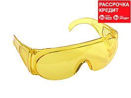 """Очки STAYER """"STANDARD"""" защитные с боковой вентиляцией, желтые (11042)"""