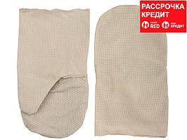 Рукавицы хлопчатобумажные, двунитка с защитой от скольжения ПВХ, XL (11413)