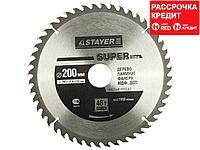 STAYER Super line 200 x 32мм 48Т, диск пильный по дереву, точный рез (3682-200-32-48)