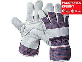 """Перчатки STAYER """"MASTER"""" рабочие комбинированные кожаные из спилка, XL (1130-XL)"""
