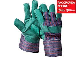 """Перчатки STAYER """"MASTER"""" рабочие, искусственная кожа, зеленые, XL (1132-XL)"""