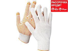 STAYER RIGID, размер L-XL, 10 пар в упаковке, перчатки трикотажные для тяжелых работ, х/б 7 класс, с ПВХ-гель покрытием (точка). (11397-H10)