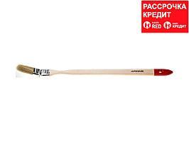 Кисть радиаторная малярная STAYER 0111-25, EURO, светлая натуральная щетина, деревянная ручка, 25 мм
