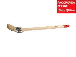 Кисть радиаторная малярная STAYER 0111-50, EURO, светлая натуральная щетина, деревянная ручка, 50 мм