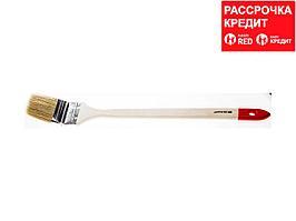 """Кисть радиаторная STAYER """"EURO"""", светлая натуральная щетина, деревянная ручка, 63мм (0111-63)"""