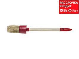 "Кисть круглая STAYER ""MASTER"", светлая натурал. щетина, пластм. корпус, деревян. ручка, №6 x 30мм (0141-30)"