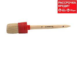 "Кисть круглая STAYER ""MASTER"", светлая натурал. щетина, пластм. корпус, деревян. ручка, №14 x50мм (0141-50)"