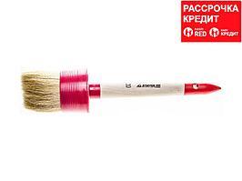 "Кисть круглая STAYER ""MASTER"", светлая натурал. щетина, пластм. корпус, деревян. ручка, №20 x65мм (0141-65)"