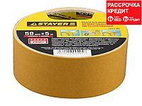 Двухсторонняя клейкая лента на тканевой основе, STAYER Profi 1217-05, 50мм х 5м (1217-05)