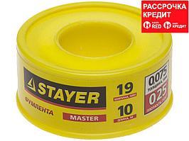 "Фумлента STAYER ""MASTER"", плотность 0,25 г/см3, 0,075ммх19ммх10м (12360-19-025)"