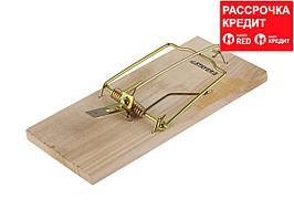 """Крысоловка STAYER """"STANDARD"""", деревянное основание (40501-L)"""