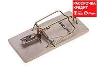 """Мышеловка STAYER """"STANDARD"""", деревянное основание, малая (40501-S)"""