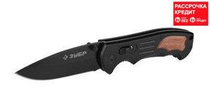 """Нож ЗУБР """"ЭКСПЕРТ"""" КЛЫК складной, металлическая эргономичная рукоятка, 200мм/лезвие 85мм (47704_z01)"""