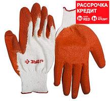 ЗУБР УНИВЕРСАЛ, размер L-XL, перчатки с одинарным обливом (11458-XL)